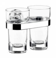 Emco polo Doppelglashalter Kristallglas klar chrom - 072500100
