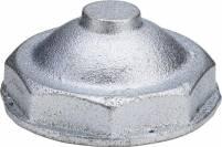Viega Überströmkappe G23601 mit Prüfstopfen in G2 3/4 Messing - 532222