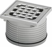 Viega Aufsatz 4934.1 in 100x100mm Kunststoff grau - 555177
