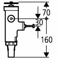 Grohe WC-Druckspüler Wandeinbau DN20 Austauscharmatur