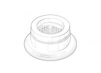 Dornbracht Luftsprudler kpl. Ersatzteile - 90230101500 platin matt - 90230101500-06