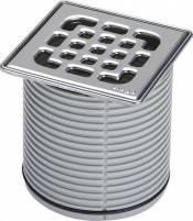 Viega Aufsatz 4934.2 in 100x100mm Kunststoff grau - 555191