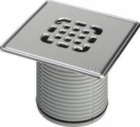 Viega Aufsatz 4934.5 Rost verschraubt in 150x150mm Kunststoff grau - 555450