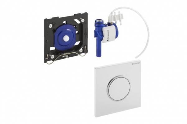 Geberit Sigma10 Urinal-Handauslösung pneumatisch weiß/chrom hochglanz/weiß 116015KJ1