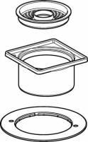 Geberit Standardrostträger und Ausgleichsring d100 - 241641001