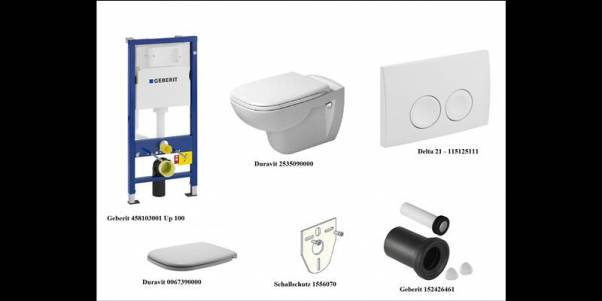 Duravit 1 WC-Anlage